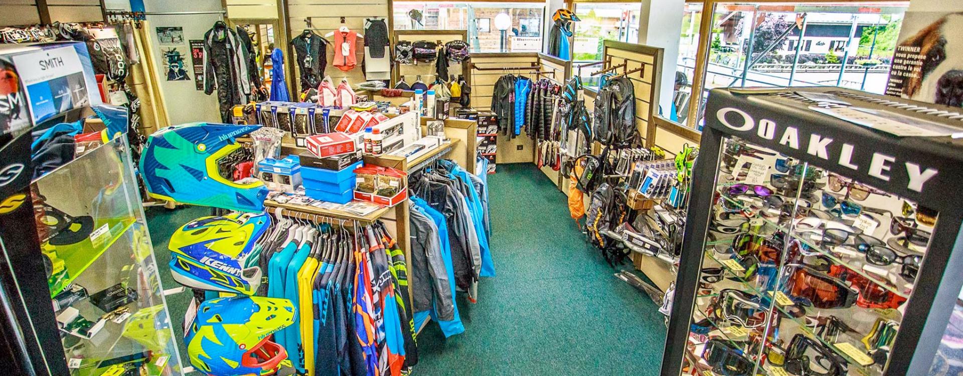 Boutique de pièces, accessoires et vêtements pour le vélo